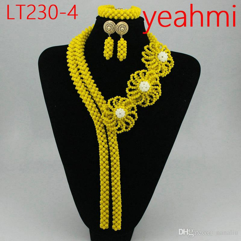 Cheap Gold Bold New Latest Design Party African Nigerian Beads Jewellery Set