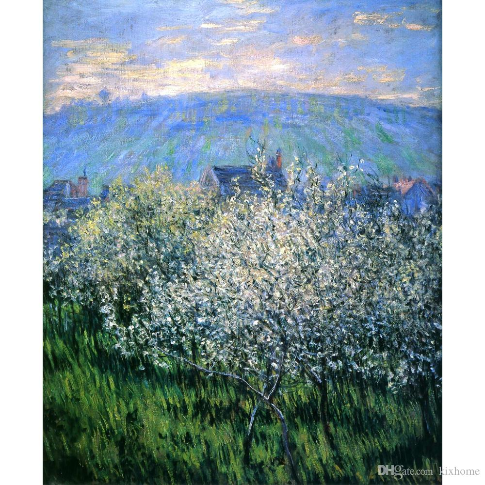 Claude Monet Oil painting reproduction Plums Blossom impressionist artwork for wall decor