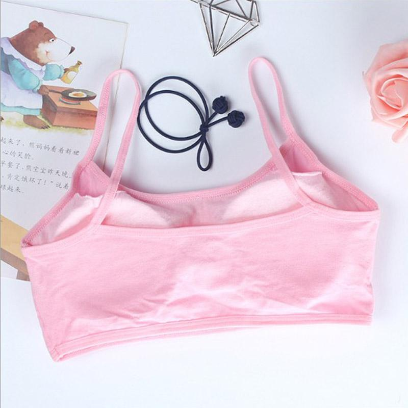 c475fb61ca ... Child Cotton Bra For Young Girls Kids Teenage Underwear Wireless Small  Training Puberty sports Bras Undergarment ...