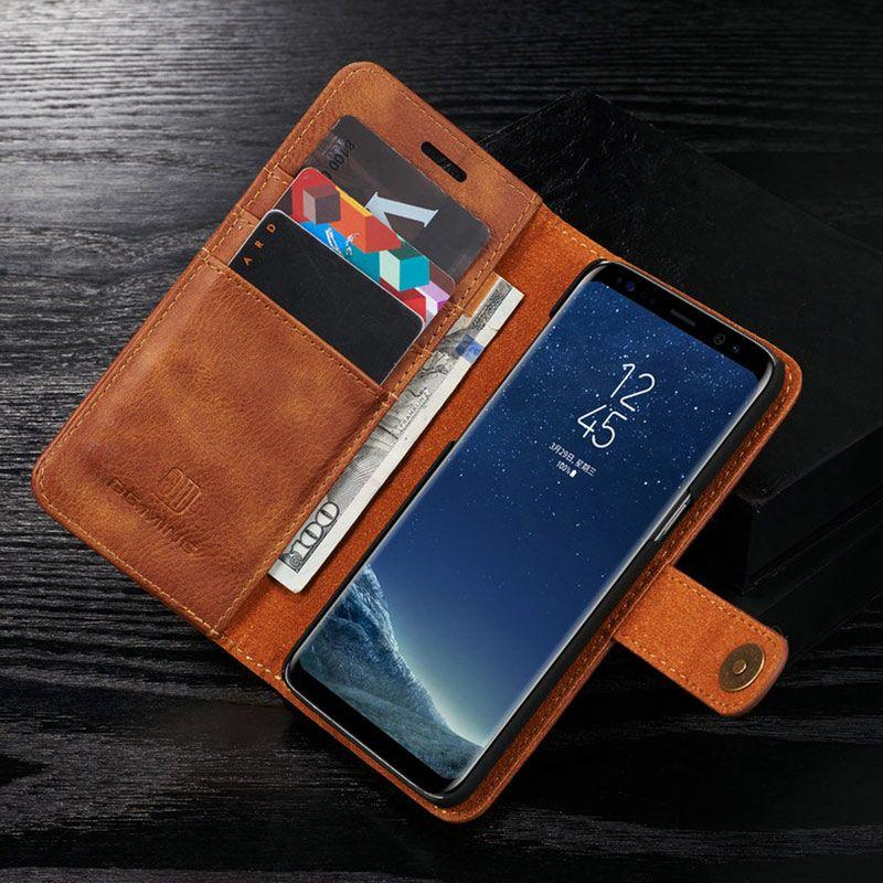 غطاء محفظة جلد فاخر لهواتف سامسونج جالاكسي S8 S9 بلس نوت 8 9 - حافظة فليب خلفية مغناطيسية لهاتف جالاكسي نوت 8 S7 ايدج