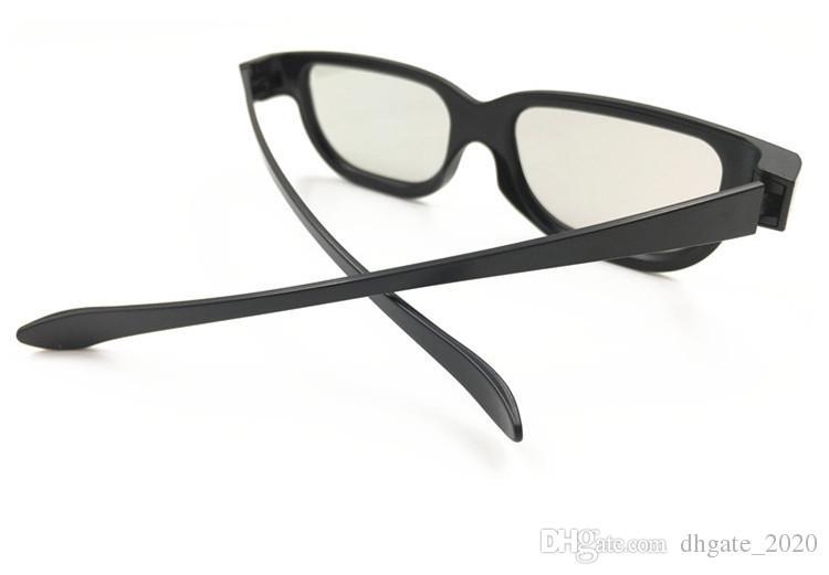 نظارات 3D نوع عالمي سماوي النقش رؤية reald نظارات 3D ستيريو البلاستيك لتلفزيون البلازما لعبة فيلم دي إتش إل freeshipping