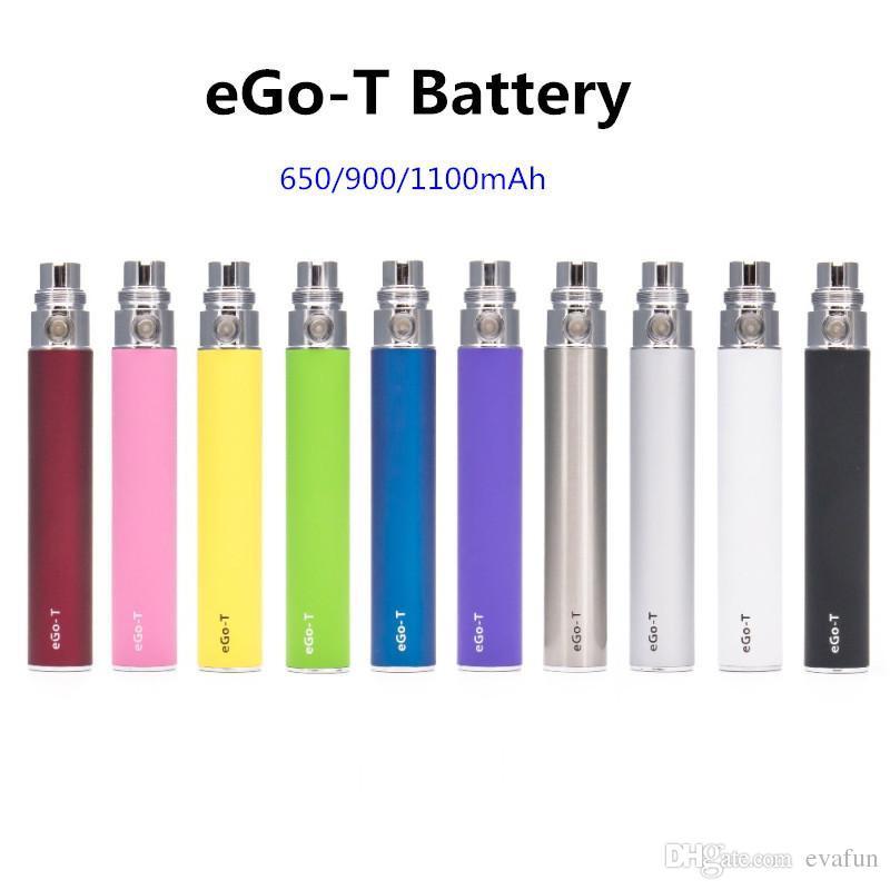 E Cigarette Ego T Battery 650/900/1100mah 510 eGo Battery Electronic Cigarette for CE4 Vape Cartridge EVOD MT3 AtomizerS Vaporizer Pen Kit