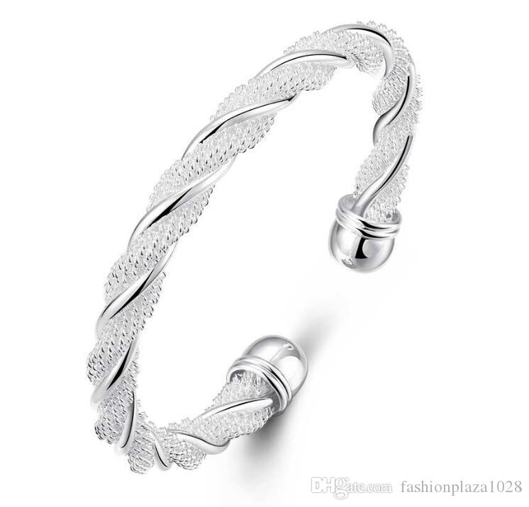 Luckyshine 925 Silver 10 piece New Product Charm Handmade Bracelet Antique Silver Bracelet Bangles For Women Holiday Party B0004
