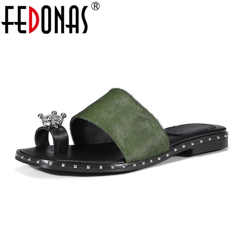 Sandalias de las mujeres al por mayor 2018 nuevos planos cómodos de los zapatos de la crin de la resbalón de la mujer en los zapatos ocasionales del holgazán sandalias del verano