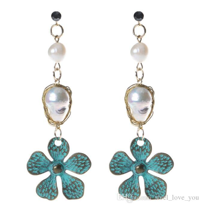 UK/_ Vintage Princess Pearl Tassel Drop Dangle Stud Earrings Wedding Jewelry Late