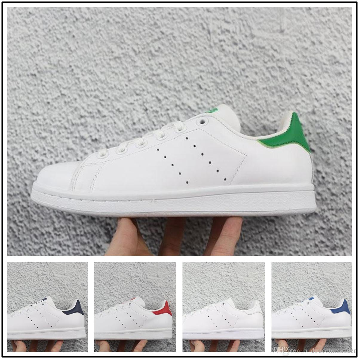 Acheter Adidas Superstar Chaussures Stan Smith 2018 Nouvelle Arrivée Pharrell Williams X Stan Smith Tennis HU Primeknit Hommes Femmes Casual