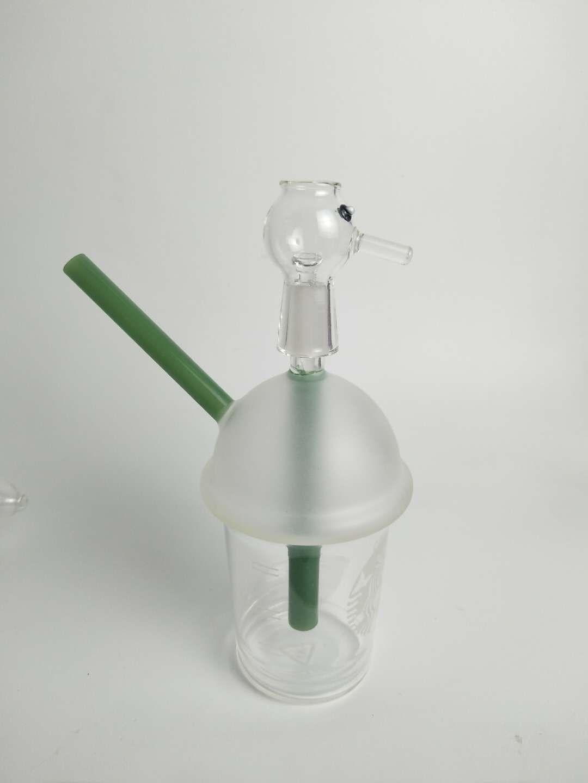 H:19CM Popular Mini Glass Oil Burner Water Bong for Water Bongs small oil burner water pipe dab rig bong Ash Catcher Hookah Pipe Smoking