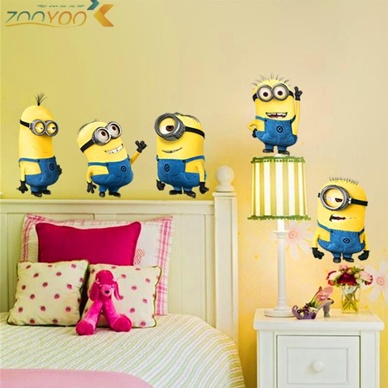 Cute Minions Movie Wall Stickers For Kids Rooms Nursery Home Decor 3d Cartoon Wall Decals Art Diy Poster Children Gift Pvc Mural Baby Room Wall Stickers Baby Wall Decal From Chairdesk 5 02
