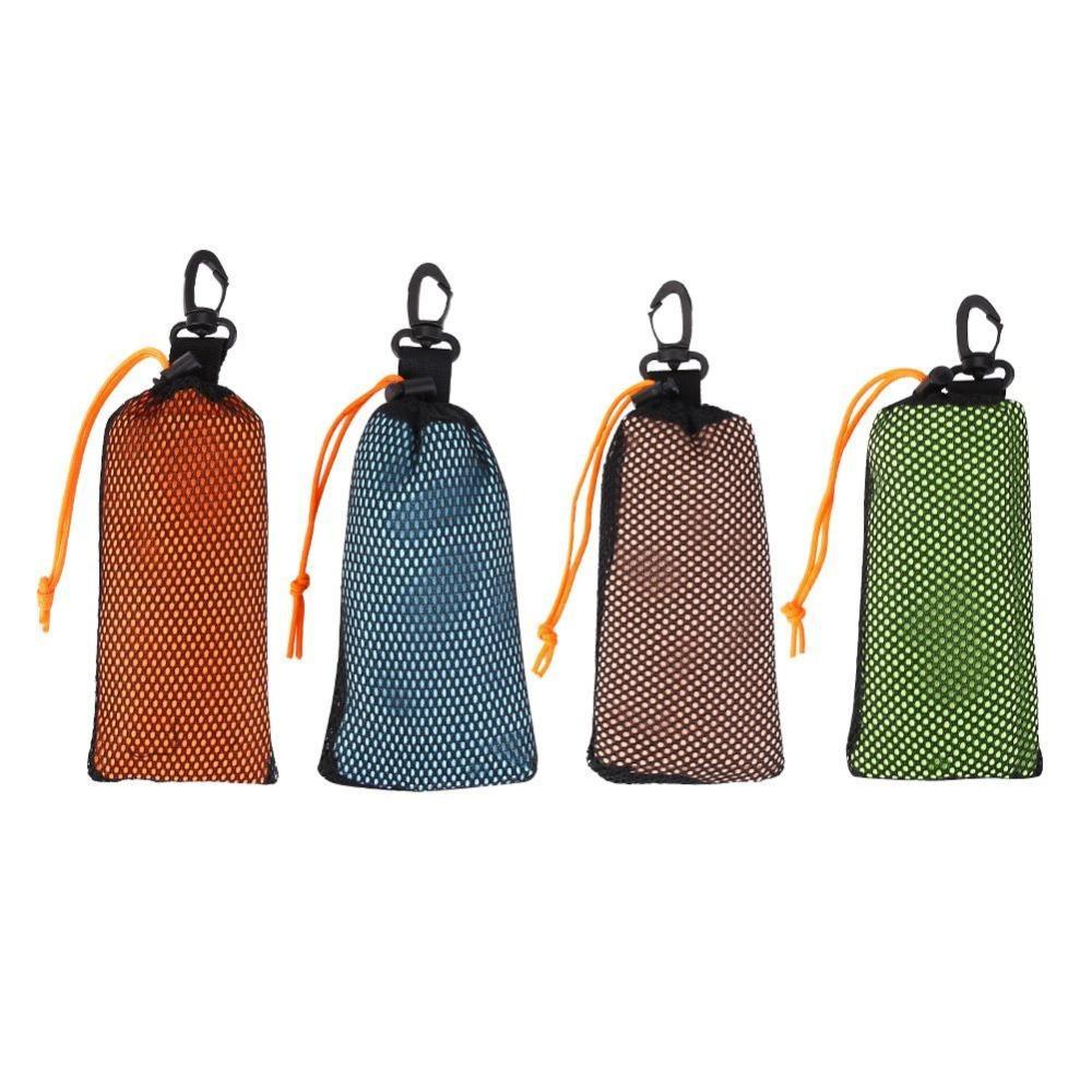 Serviette de golf souple sport sports serviette serviettes à séchage rapide avec un sac de transport en alliage d'aluminium mousqueton