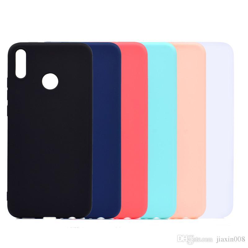 Şeker Renk Kapak Için Huawei Onur 8X Durumda Yumuşak TPU Ultrathin Tasarımcı Mobie Telefon Kılıfları Capinha
