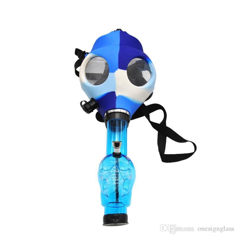 E815 hotselling glassical Tuyaux pour masques à gaz Bongs Tuyau à eau pour narguilé FDA Masque à gaz en silicone de qualité alimentaire (taxe gratuite et dédouanement gratuit)