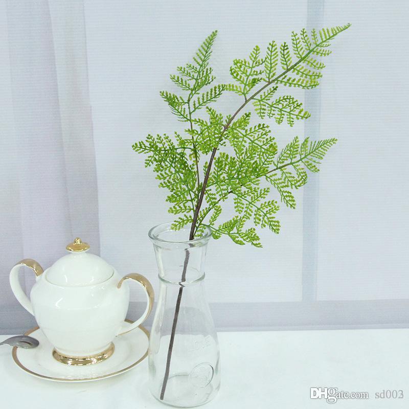 Moda Mini 40 cm Fiori artificiali Stile fresco Piante verdi Fiore finto per camera da letto Soggiorno Decorazioni per matrimoni 1 76qh ZZ