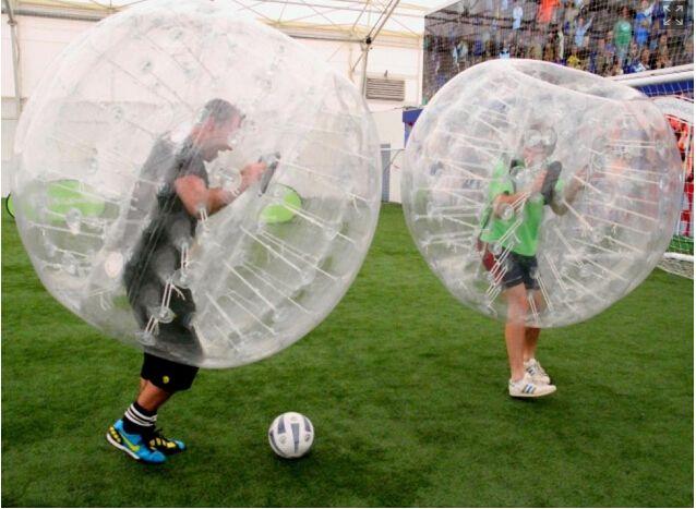 Futbol Dev Yetişkin Kabarcık Futbol Tampon Ball için Ücretsiz Kargo 2018 Sıcak Satış Dev PVC Şişme Balon Topu Suit