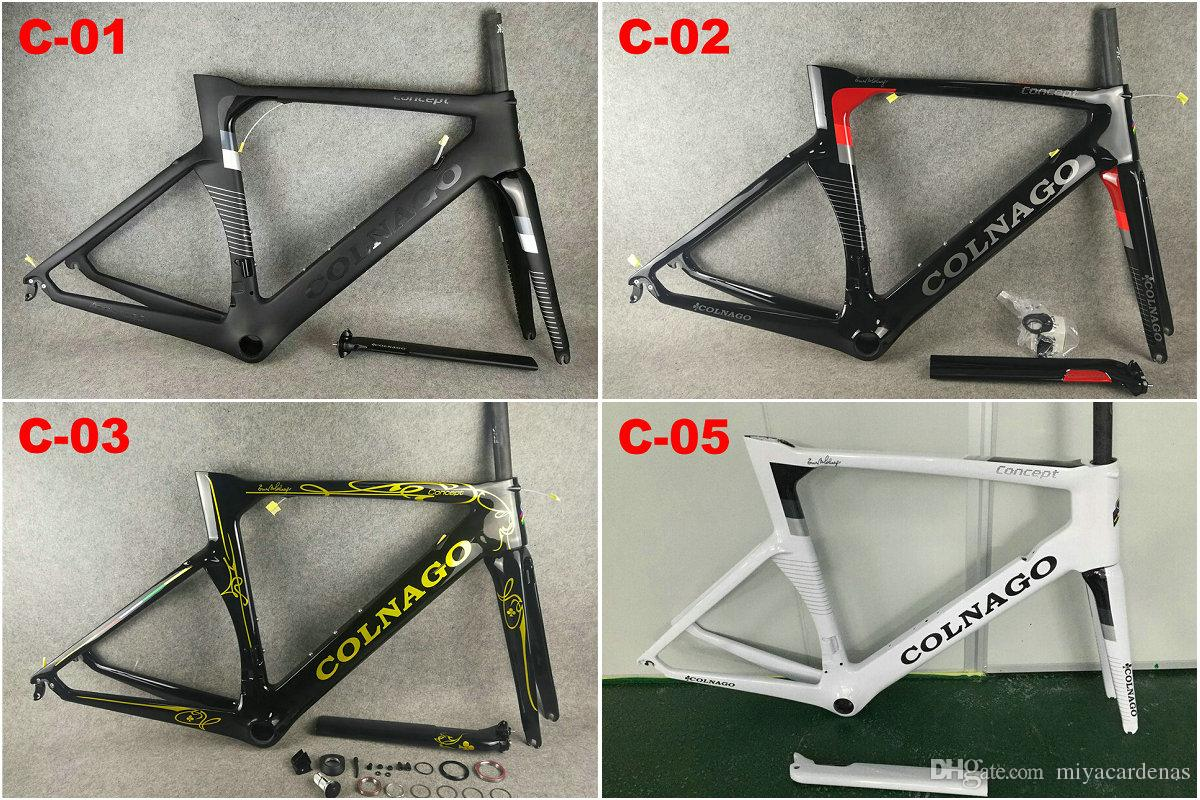80 colors Carbon Road Bike Frame CARROWTER White Gold Frameset Carbon Bicycle Frameset BOB TEAM Sky BB68 or BB30