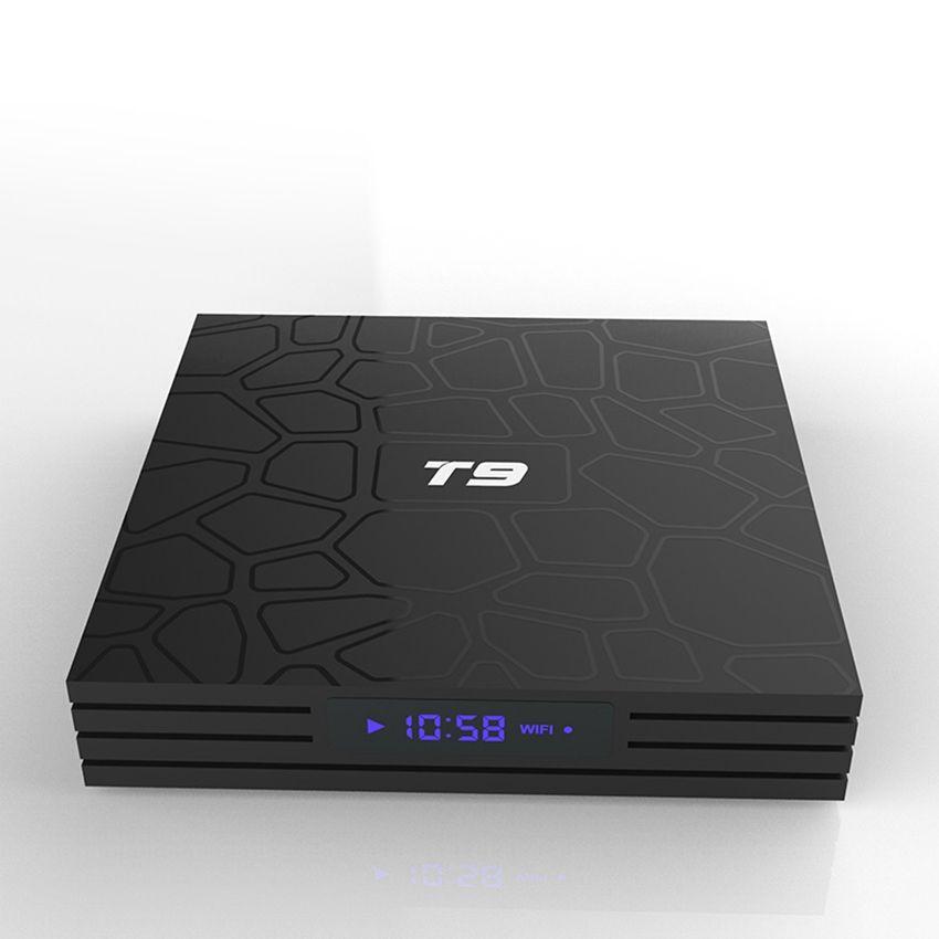 T9 Android 9.0 TV Box Quad Core 4 GB 32 GB RK3318 2.4G WiFi H.265 z LED Displayer