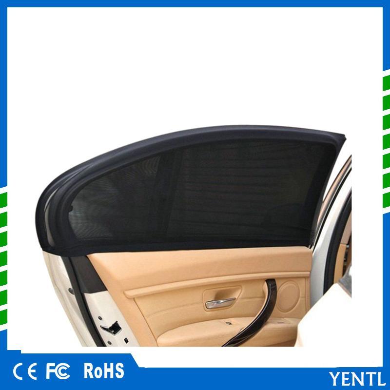 شحن مجاني 2 × سيارة الجانب الخلفي نافذة الشمس قناع الغلاف درع ظلة uv النافذة الجانبية الشمس الظل شبكة النسيج غطاء درع uv