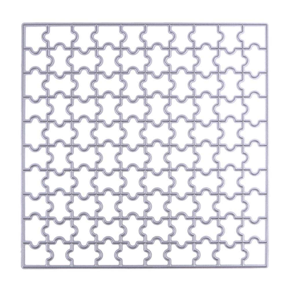 15.3cm Jigsaw Puzzle Cutting Dies Scrapbooking Paper Card Craft Dies DIY Embossing Metal Stencil Decorative Dies Cutter