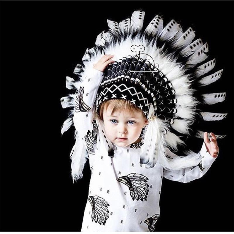 INS Wind Indian Feather Headgear Decoración de fiesta Accesorios de fotografía Entretenimiento Decoración del lugar Ropa Accesorios
