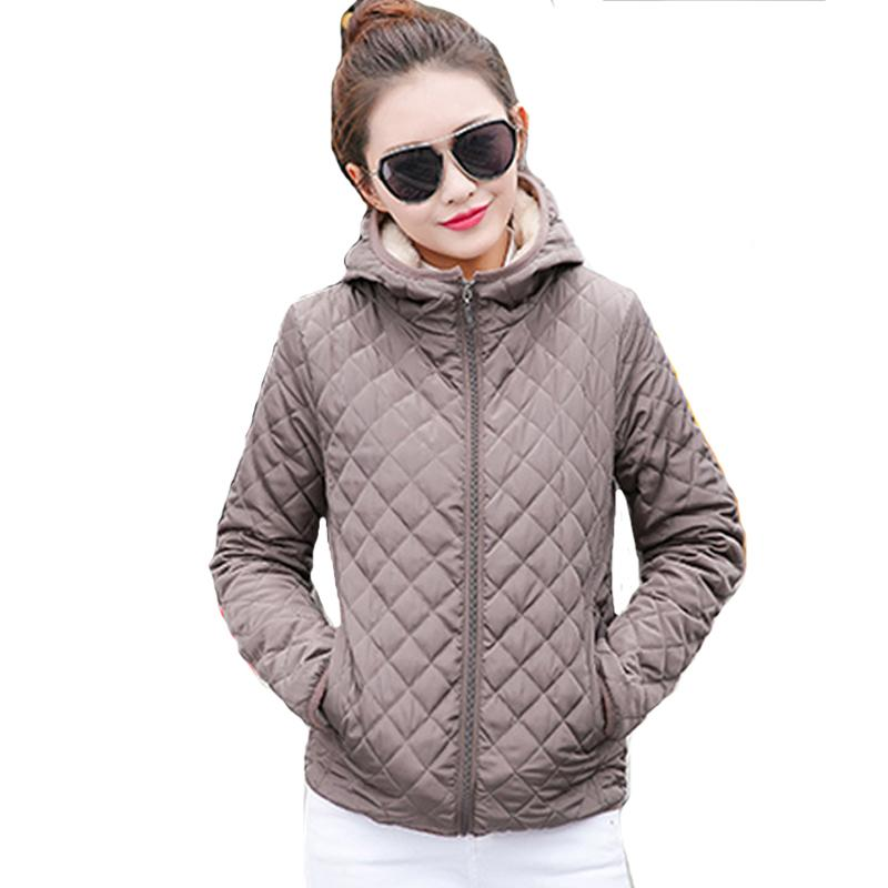 2018 solide noir rouge court hiver femmes veste de base automne mince polaire à capuche femmes manteau casual survêtement casaco feminino S18101203