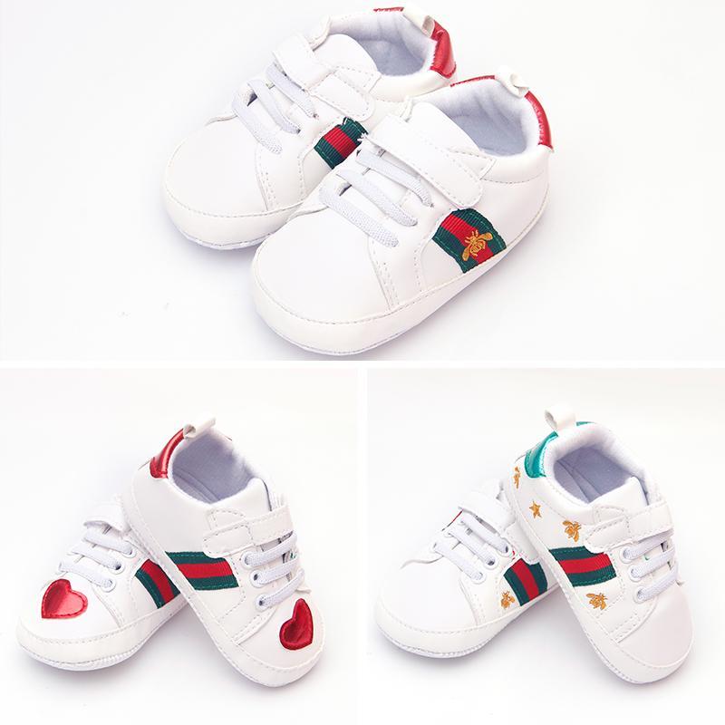 2018 neue Art-Baby-erste Wanderer Newbor Baby und Mädchen-Turnschuhe Schuhe Infantil weiche Unterseite Kinderschuhe