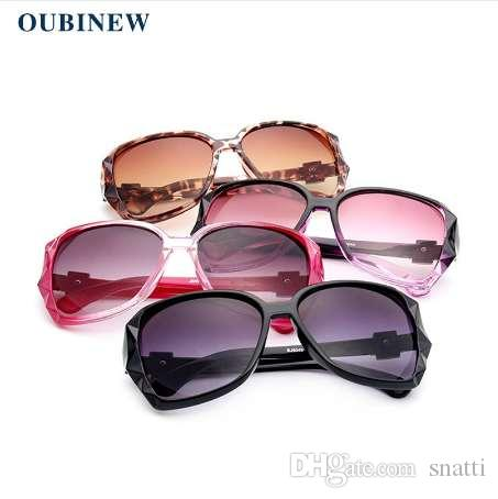 Gafas de sol grandes de la marca de la mujer de la marca de OUBINEW Gafas de sol de la resina de alta calidad de la moda de la calle Gafas de sol polarizadas de la venta caliente de la calidad