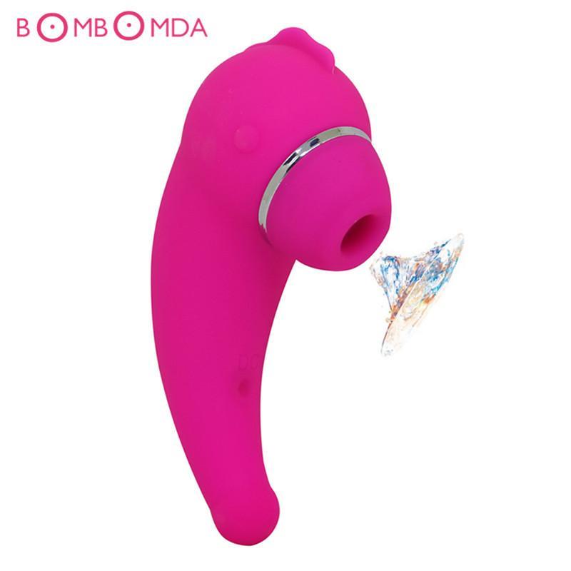 Puissant langue orale mamelon sexe Sucker clitoris vibrateur adulte jouet pour femmes, femmes se masturbent sex toys chatte pompe vagin orale jouets D18110505