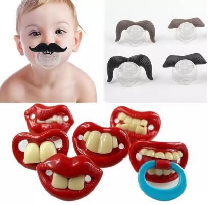 Silikon Komik Meme Kukla Bebek Yatıştırıcı Joke Prank Yürüyor Pacy Ortodontik Nipeller Diş Kaşıyıcı Bebek Emzik Noel Hediyesi HZ0
