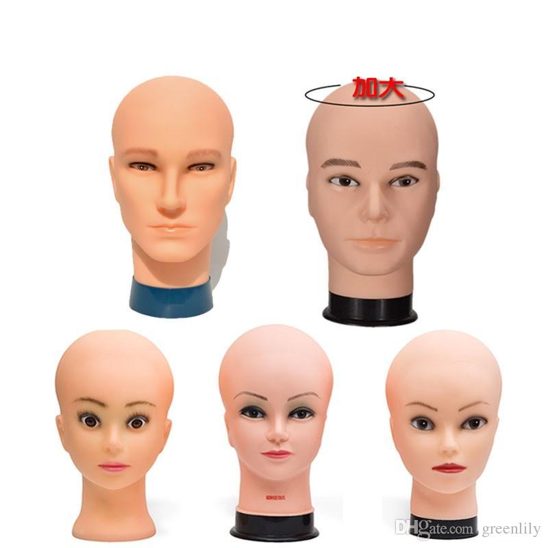 Peruk Manken kafa bareheaded kafa modelleri erkek ve kadın çeşitli stilleri Peruk Şapka eşarp ekran Mağaza sahne desteği
