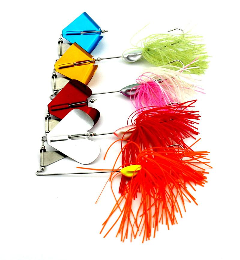 New Lead Fish Laser Tractor Floating Fishing lure 22g Topwater Metal Jigs Spinner bait Popper Buzzbait