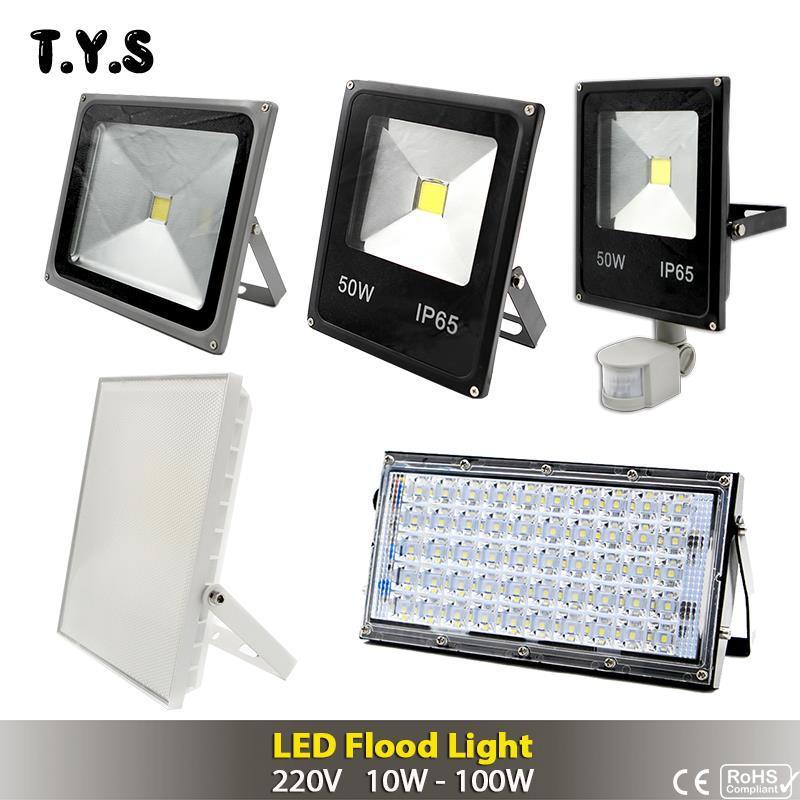 Outdoor 220V Warm White 100W LED Flood Light Security Work Spotlight Light