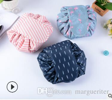 Lazy Makeup Bag Travel Cosmetic Bag Organizer Multifunctional Drawstring Wash Bags Hot Sale Korea Large Capacity Storage Bags