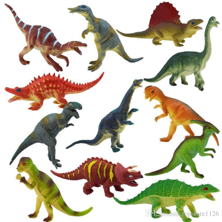 Hot Cor Misturada Mini Simulação Dinossauro Formas Crianças Brinquedos de Festa Em Casa Engraçado Presentes Decoração Frete Grátis
