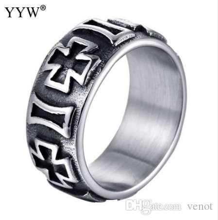 Панк-рок стиль кольцо мужская мода палец анилло хип-хоп кольцо размер 8/9/10/11/12 ретро Титана стальные кольца для мужчин ювелирные изделия