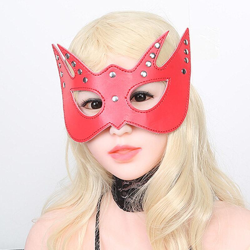 Juego Sexo ocular Adulto Fetiche máscara PU Cuero Juegos Sexuales S924 Productos de juguete sexy Novedad Esclavo para parejas Dormir Morease Flirt JTMIT