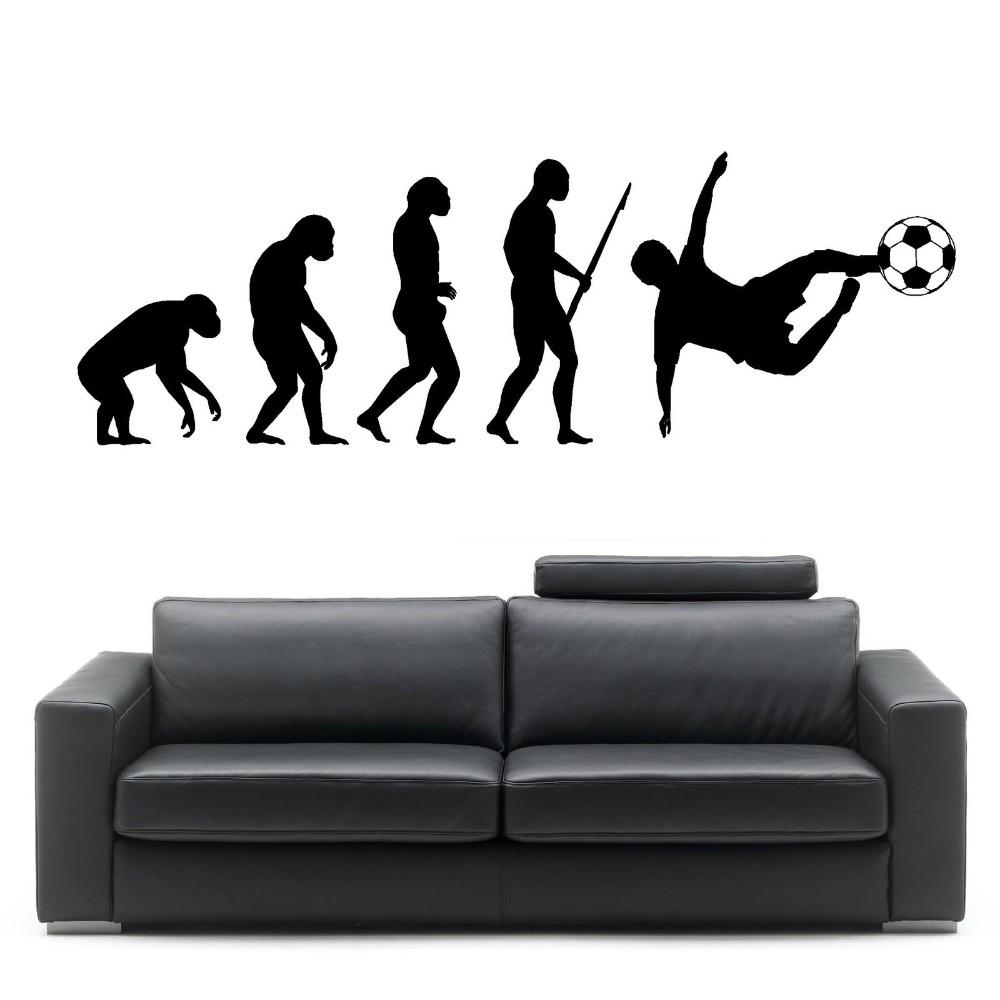 Personalized Wall Decal Evolution of Man Football Wall Art Sticker for living room home Wall decoration
