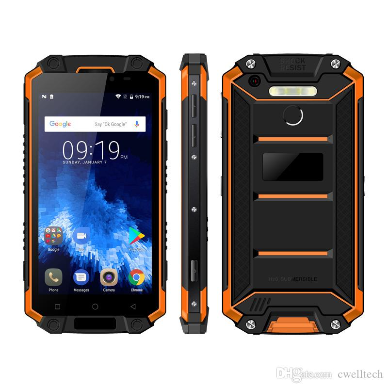 POPTEL P9000 Max 5.5 Inch 4GB RAM 64GB ROM IP68 Waterproof Cell Phone NFC 9000mAh Battery Fingerprint Android 7.0 Rugged Smartphone