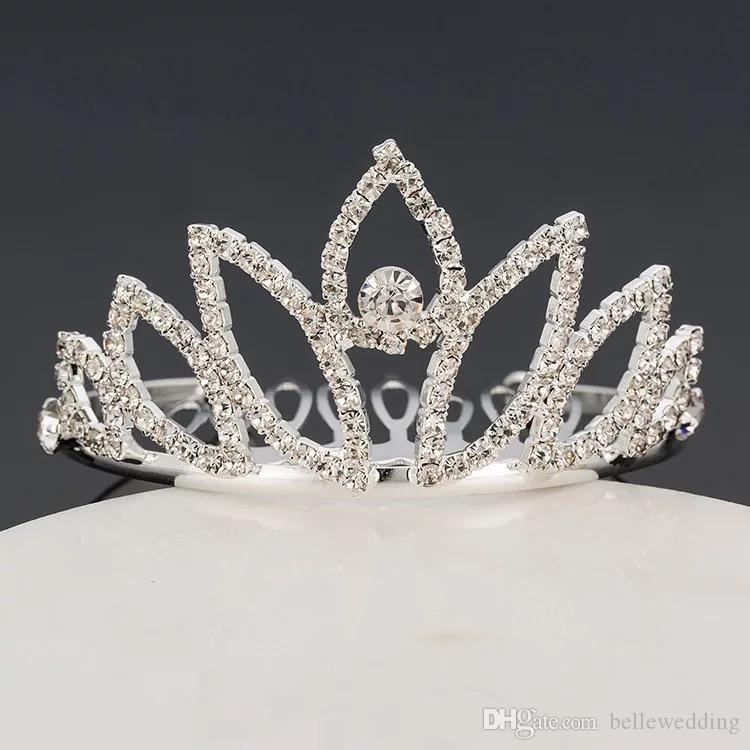 Girls Tiaras Crowns With Rhinestones Jewelry Tiaras For Birthday Party Performance Pageant Crystal Wedding Headpieces Accessories #BW-T061
