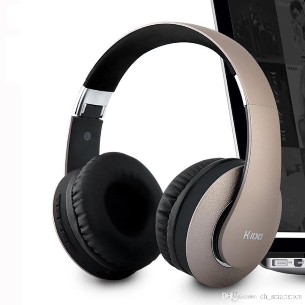 Hot selling KD-B04 Bluetooth Headphones Portable Stereo Wireless Headset with Mic Over-Ear Noise Earphones Support TF Card for Phone TV