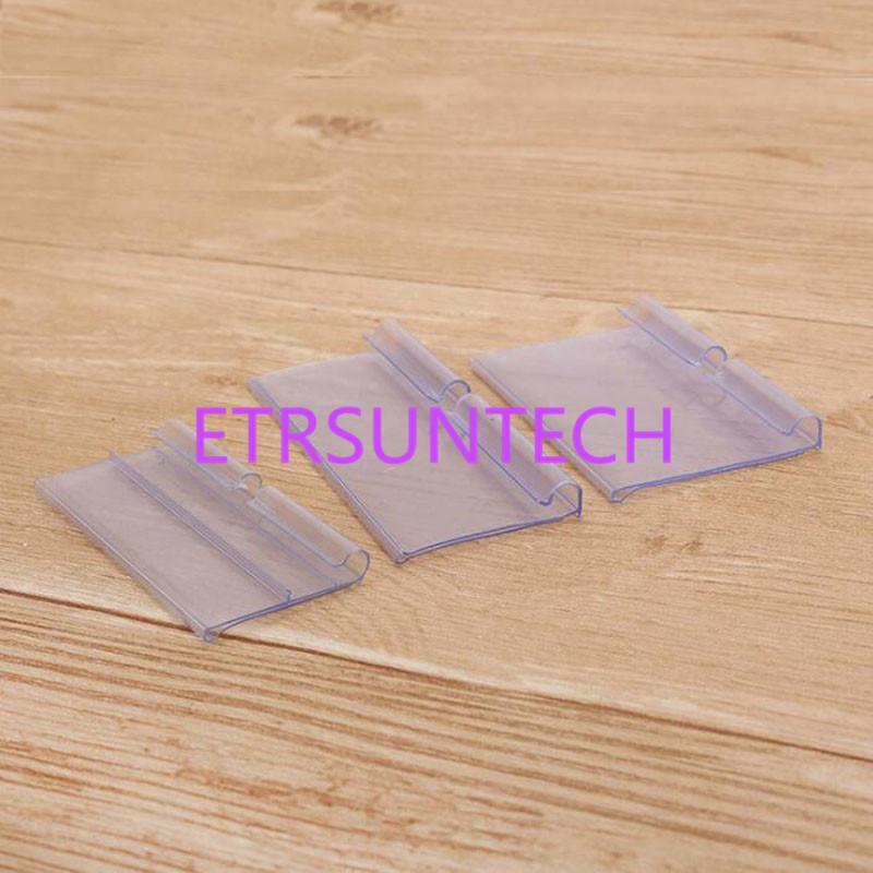 Şeffaf PVC Plastik Fiyat Etiketi Ekran Etiketi Çerçeve Burcu Tutucu Veri Şerit Raf Talker Fiyat Kartı Klip Ekran Raf QW7970