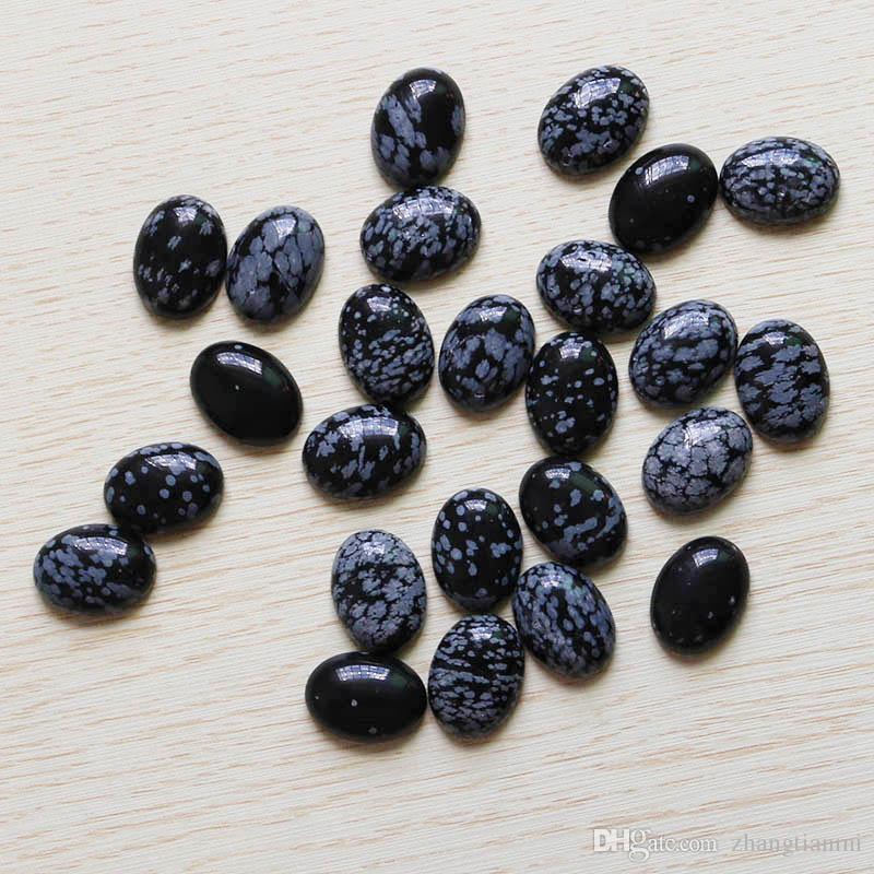 Atacado 12 pçs / lote Alta qualidade natural Bloco floco de neve de pedra oval CABO CABOCHON beads DIY jóias acessórios 15 * 20mm frete grátis
