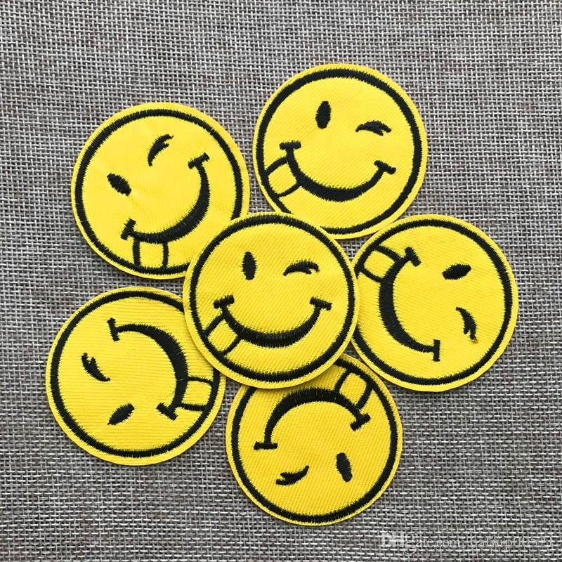 Free shipping~New fashion Smiling face Badge Iron on of Stickers, Gum sew on patches Patch Wholesale, DIY Cloth Accessories