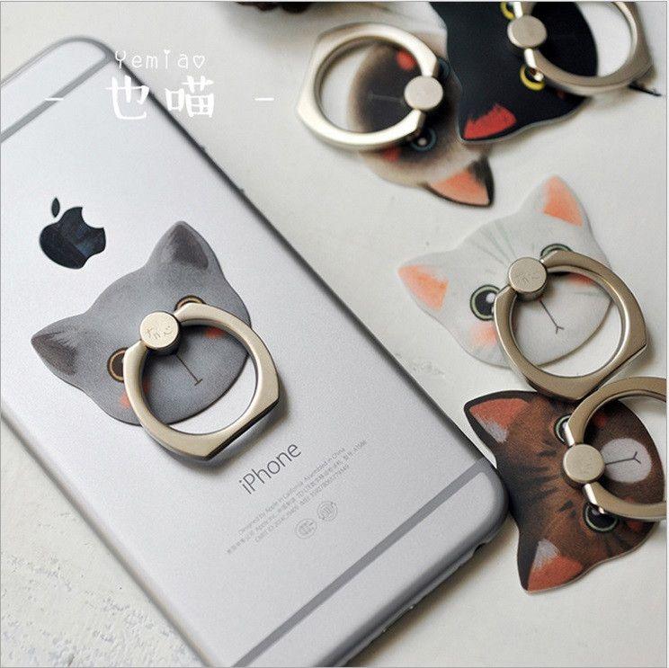 Mobile phone ring bracket Korea cute creative lazy ring buckle gift power universal cat head