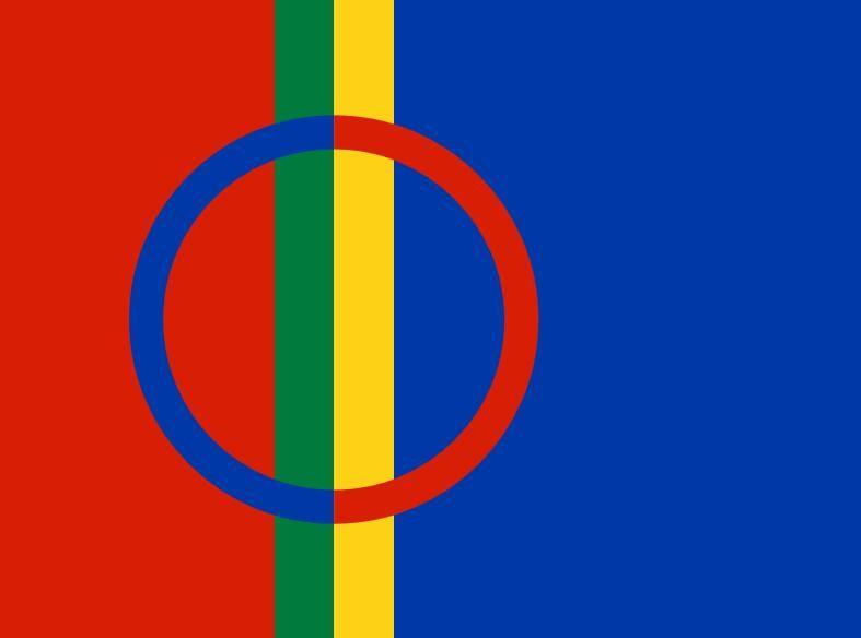 Finlandia Flaga Sami 3FT X 5FT Poliester Banner Latający 150 * 90 cm Niestandardowa flaga na zewnątrz