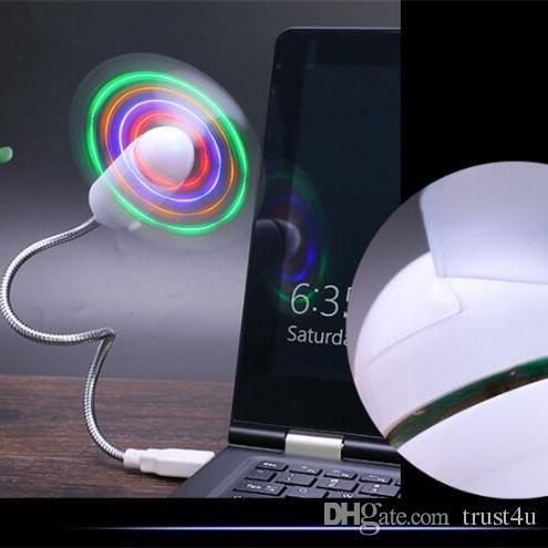 유연한 새로운 Usb 팬 USB 미니 유연한 LED 팬 LED 빛 멋진 쿨 가제트 유연한 usb 팬 가제트 멋진