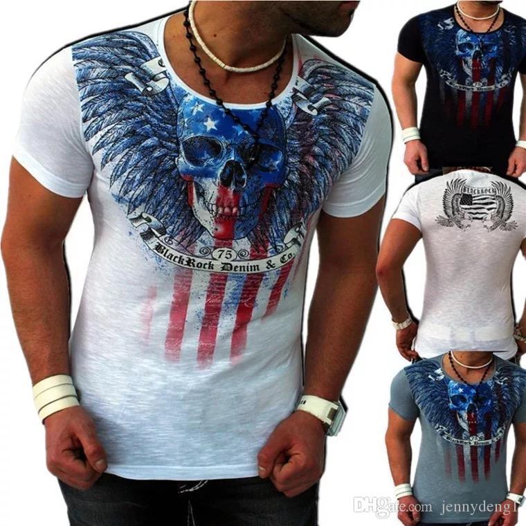 Venta directa de fábrica estilo casual para hombre de impresión personalizada camiseta