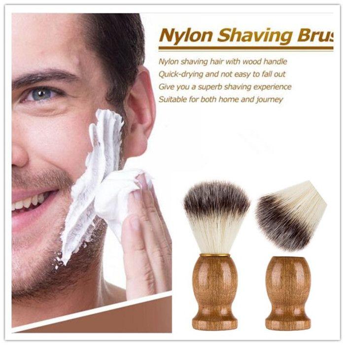 Men's Shaving Brush Barber Salon Men Facial Beard Cleaning Appliance Shave Tool Razor Brush X095