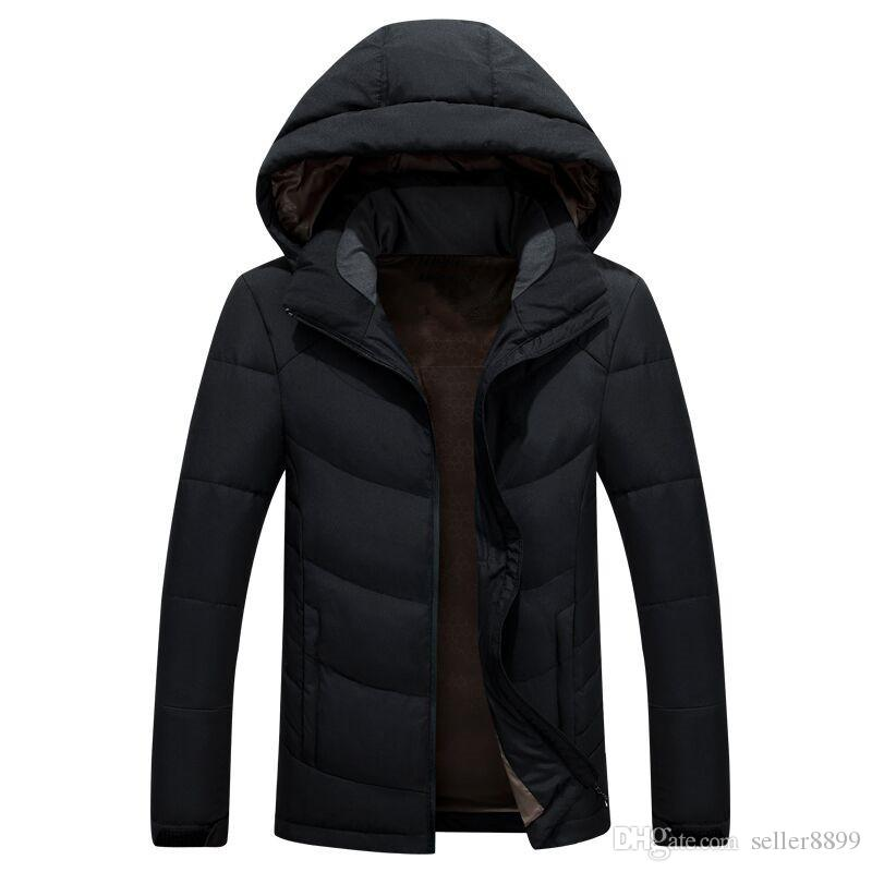 Classic Brand New Men Winter Outdoor white Duck Down Jacket man casual hooded Down Coat outerwear mens warm jackets Parkas tf616