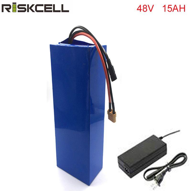 бесплатная доставка и таможенные налоги 1 шт./лот 48 в 15ah аккумуляторная электрический велосипед литий-ионный аккумулятор с ПВХ чехол , BMS ,54.6 В 2A зарядное устройство