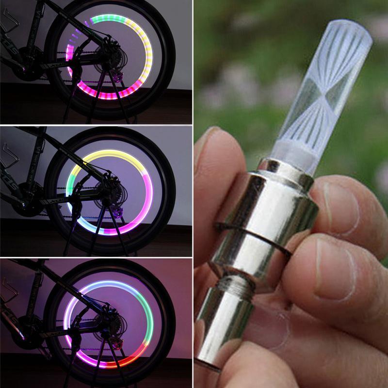 LED Wheel Tyre Shock Sensor Light Tire Valve Dust Cap For Cycling Car Motorcycle