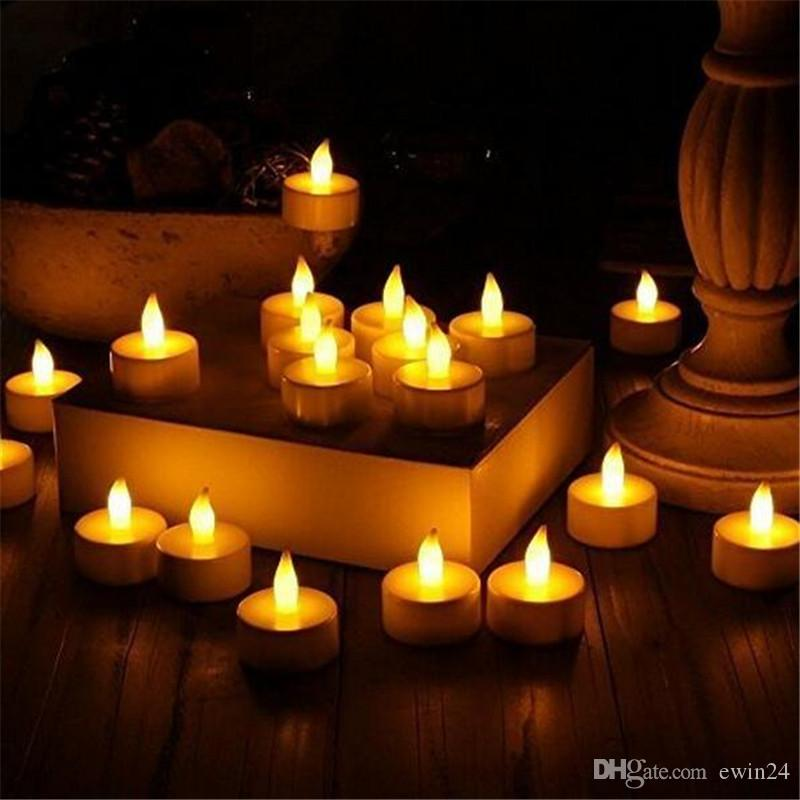 Luzes LED Tea Sem Chama Votive Tealights CandleBulb luz Pequeno Chá Elétrico Vela Falsa Realista para o Presente Da Tabela Do Casamento